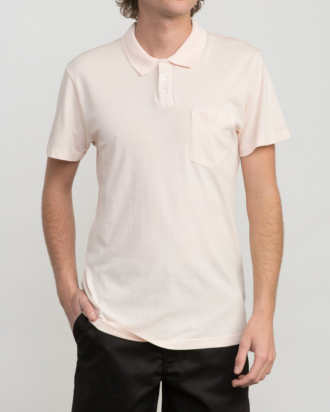 1 PTC Pigment Polo Shirt Pink MK908PPP RVCA