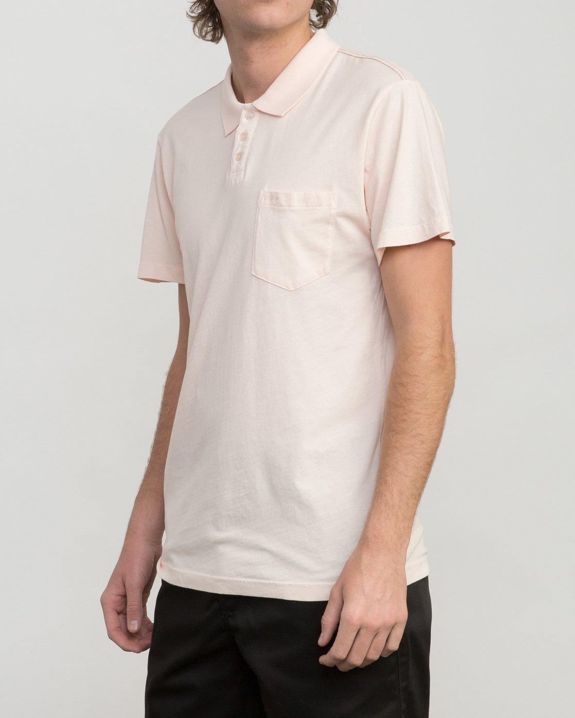 2 PTC Pigment Polo Shirt Pink MK908PPP RVCA
