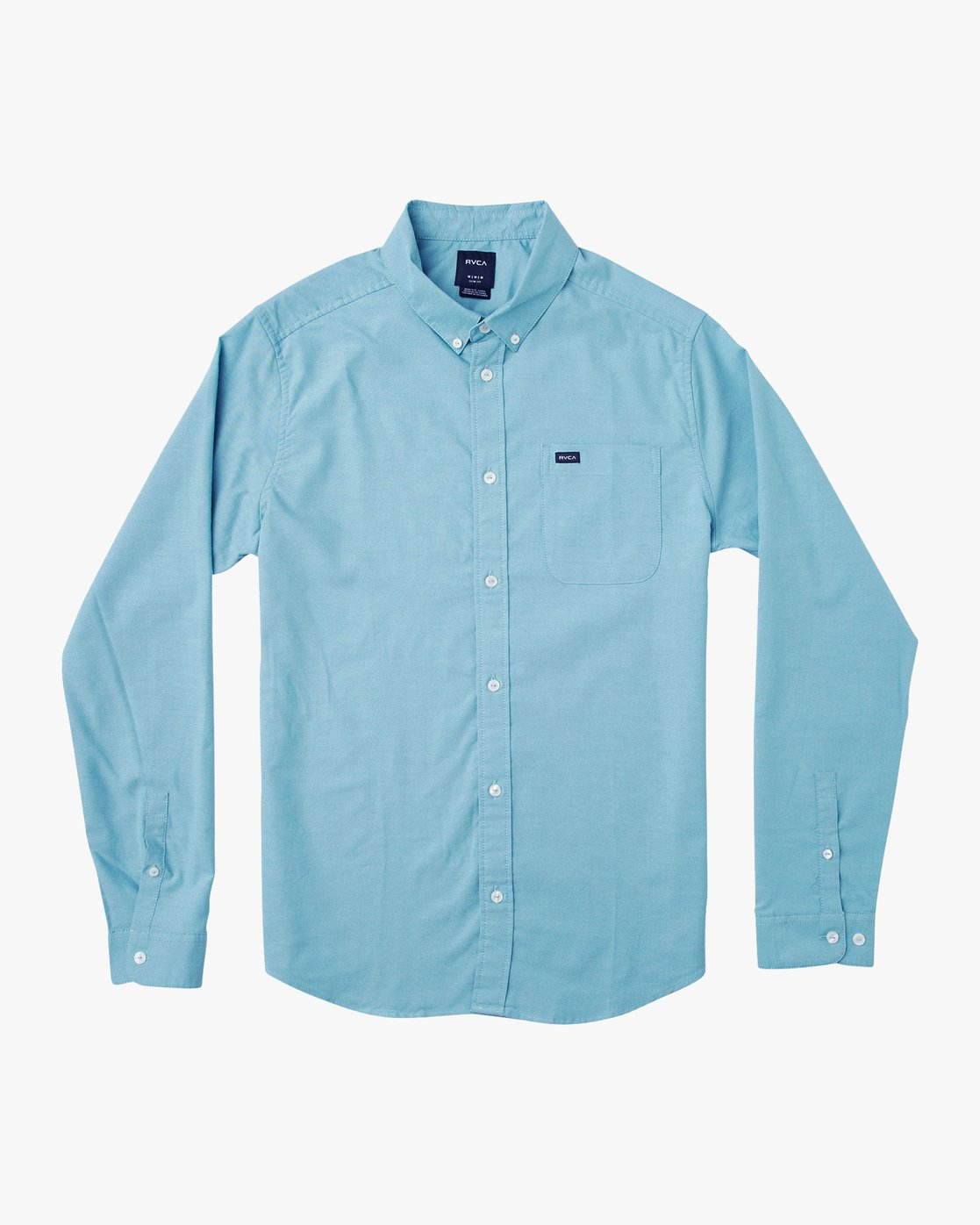0 That'll Do Stretch Long Sleeve Shirt Blue ML501TSL RVCA