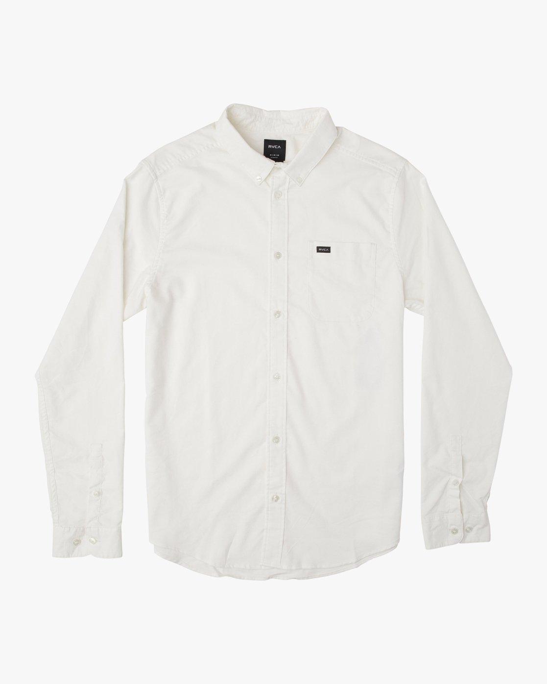 0 That'll Do Stretch Long Sleeve Shirt White ML501TSL RVCA