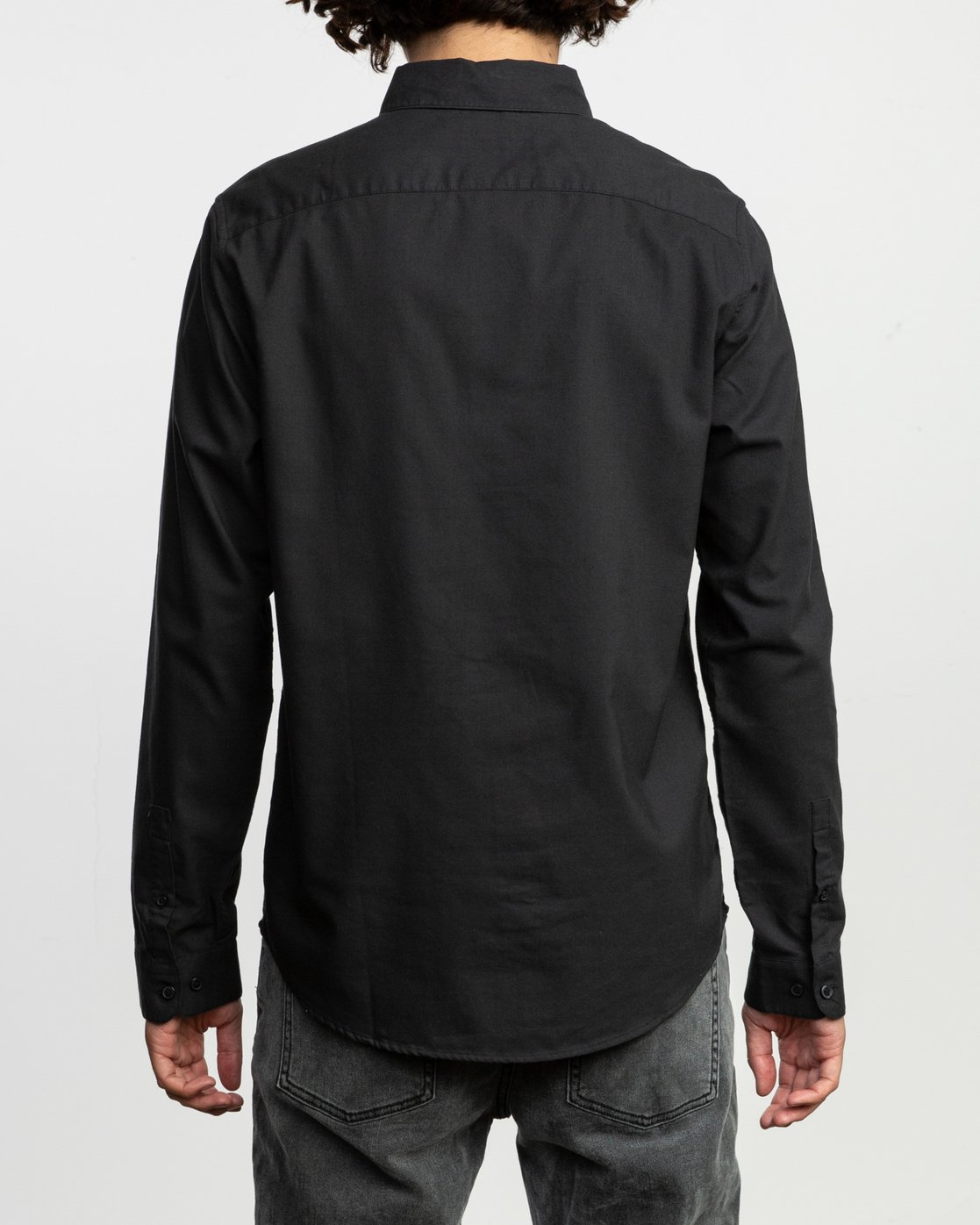 3 That'll Do Stretch Long Sleeve Shirt Black ML501TSL RVCA