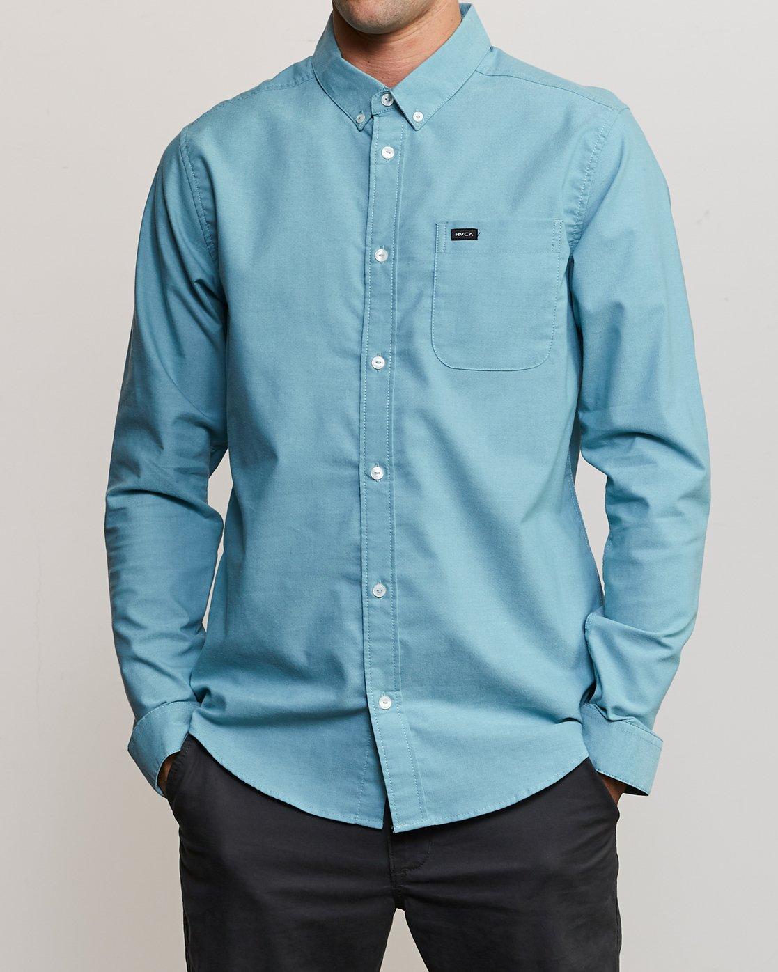 1 That'll Do Stretch Long Sleeve Shirt Blue ML501TSL RVCA