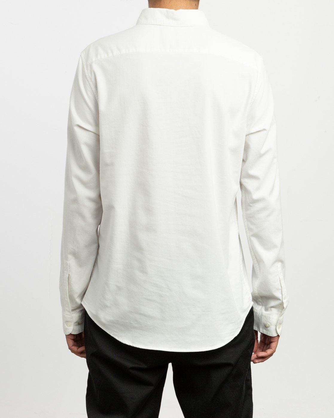3 That'll Do Stretch Long Sleeve Shirt White ML501TSL RVCA