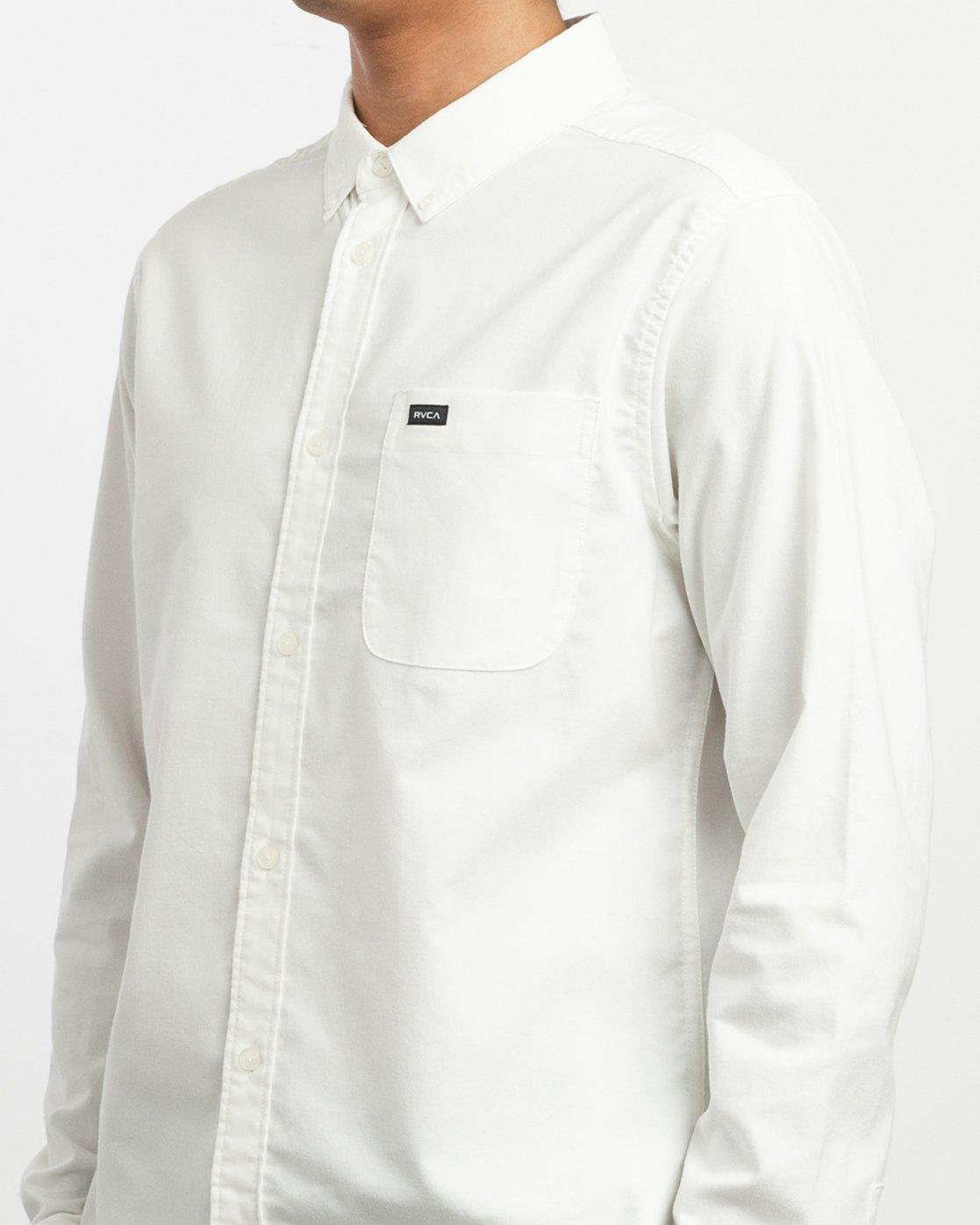 4 That'll Do Stretch Long Sleeve Shirt White ML501TSL RVCA