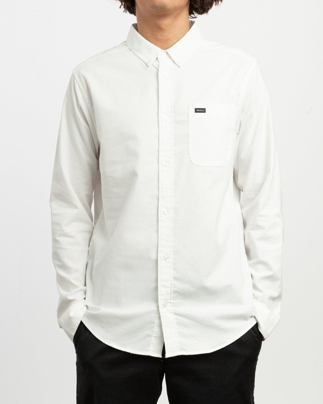 1 That'll Do Stretch Long Sleeve Shirt White ML501TSL RVCA