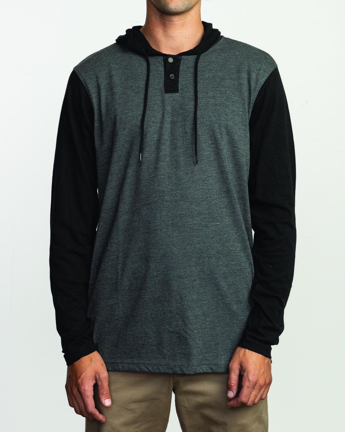 1 Pick Up Hooded Knit Shirt Black ML916PIH RVCA