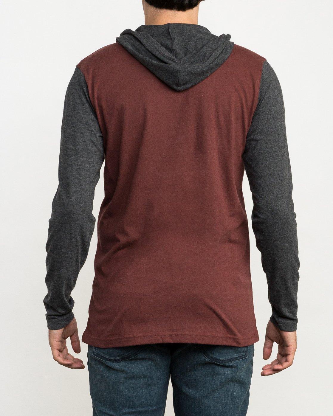 4 Pick Up Hooded Knit Shirt Red ML916PIH RVCA