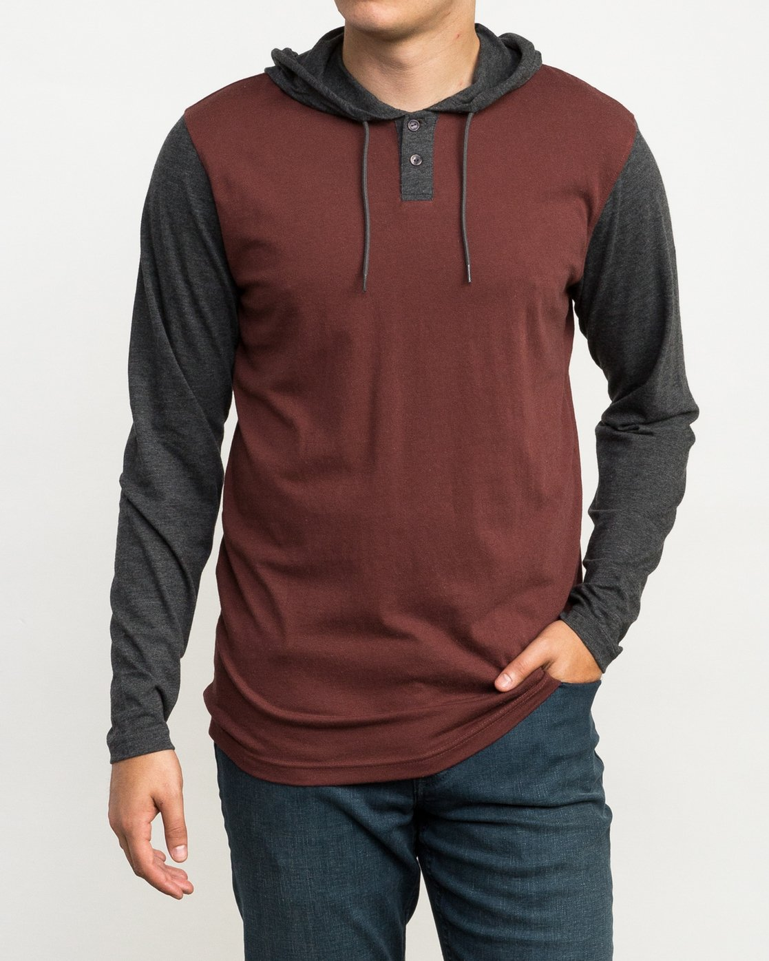 1 Pick Up Hooded Knit Shirt Red ML916PIH RVCA