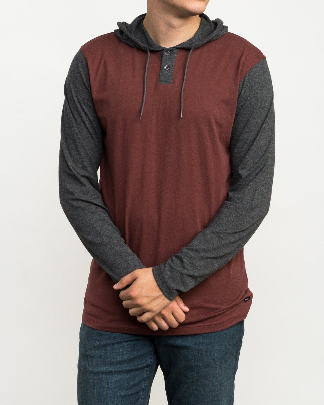 2 Pick Up Hooded Knit Shirt Red ML916PIH RVCA