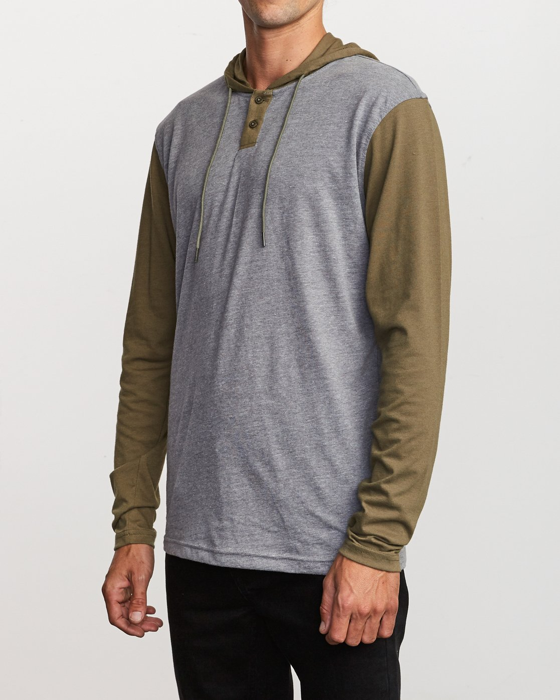 2 Pick Up Hooded Knit Shirt  Green ML916PIH RVCA