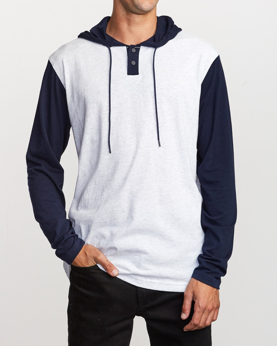 1 Pick Up Hooded Knit Shirt  Blue ML916PIH RVCA