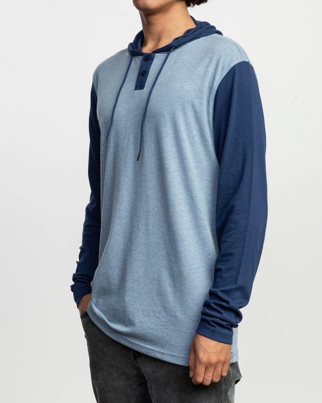 2 Pick Up Hooded Knit Shirt Blue ML916PIH RVCA