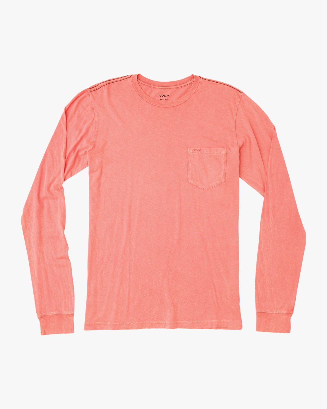 0 PTC Pigment Long Sleeve T-Shirt Pink ML921PPL RVCA