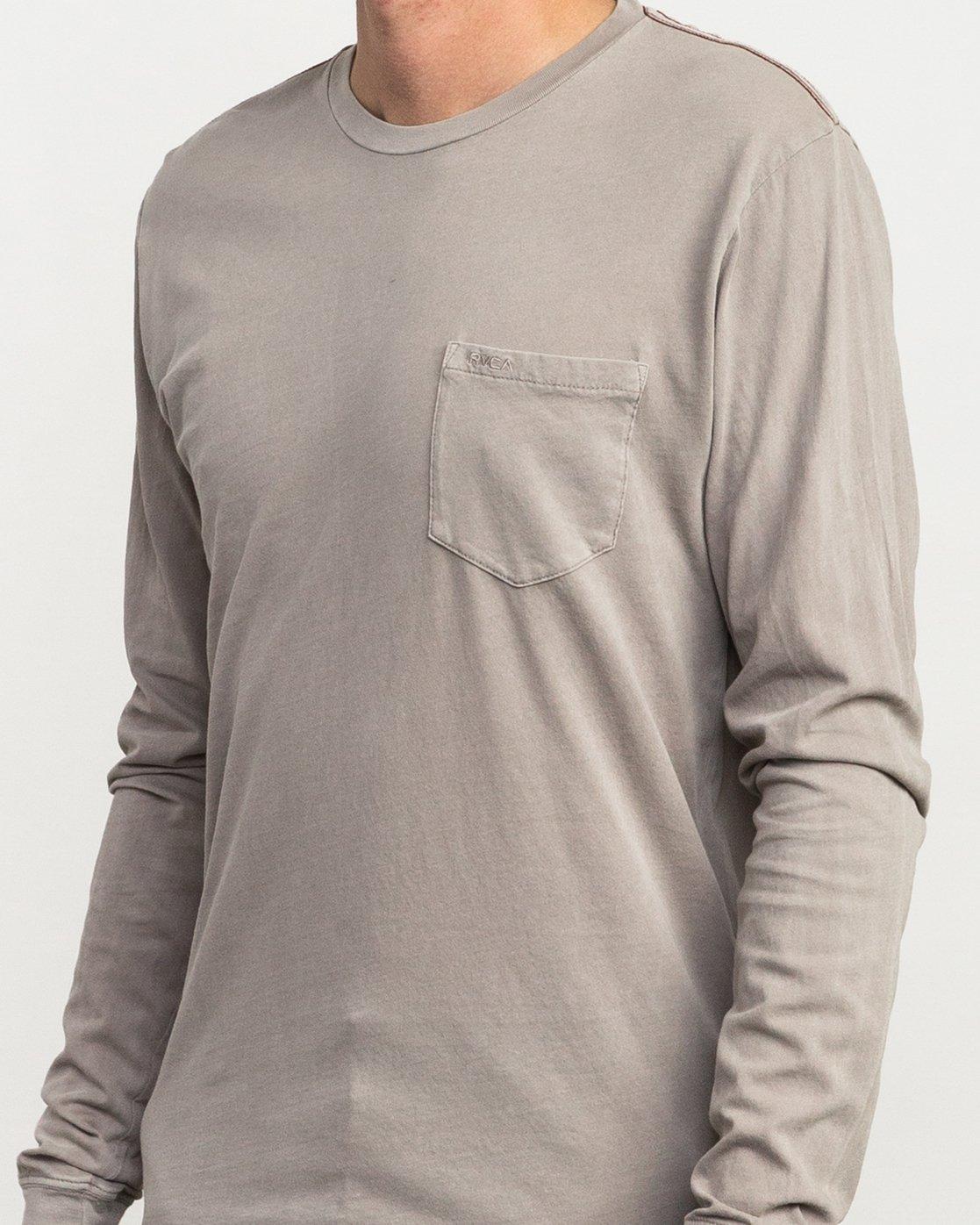 4 PTC Pigment Long Sleeve T-Shirt Multicolor ML921PPL RVCA