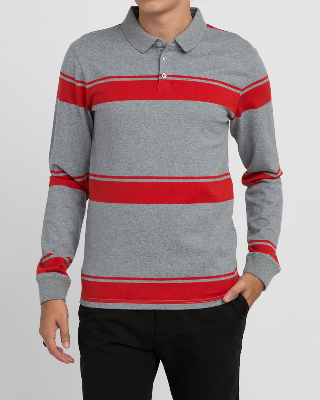 1 KL Rugby Long Sleeve Polo  MM906KLR RVCA