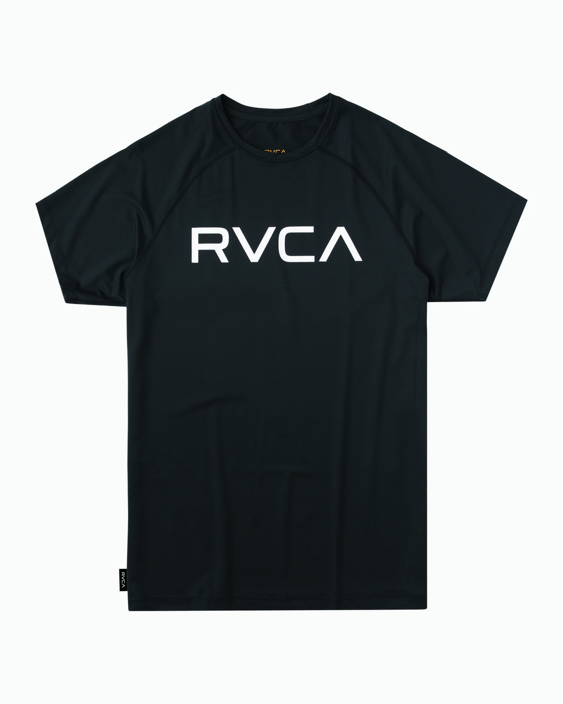 3255c7c55db1f 0 Micro Mesh Short Sleeve Surf Top Black MR02NRMM RVCA