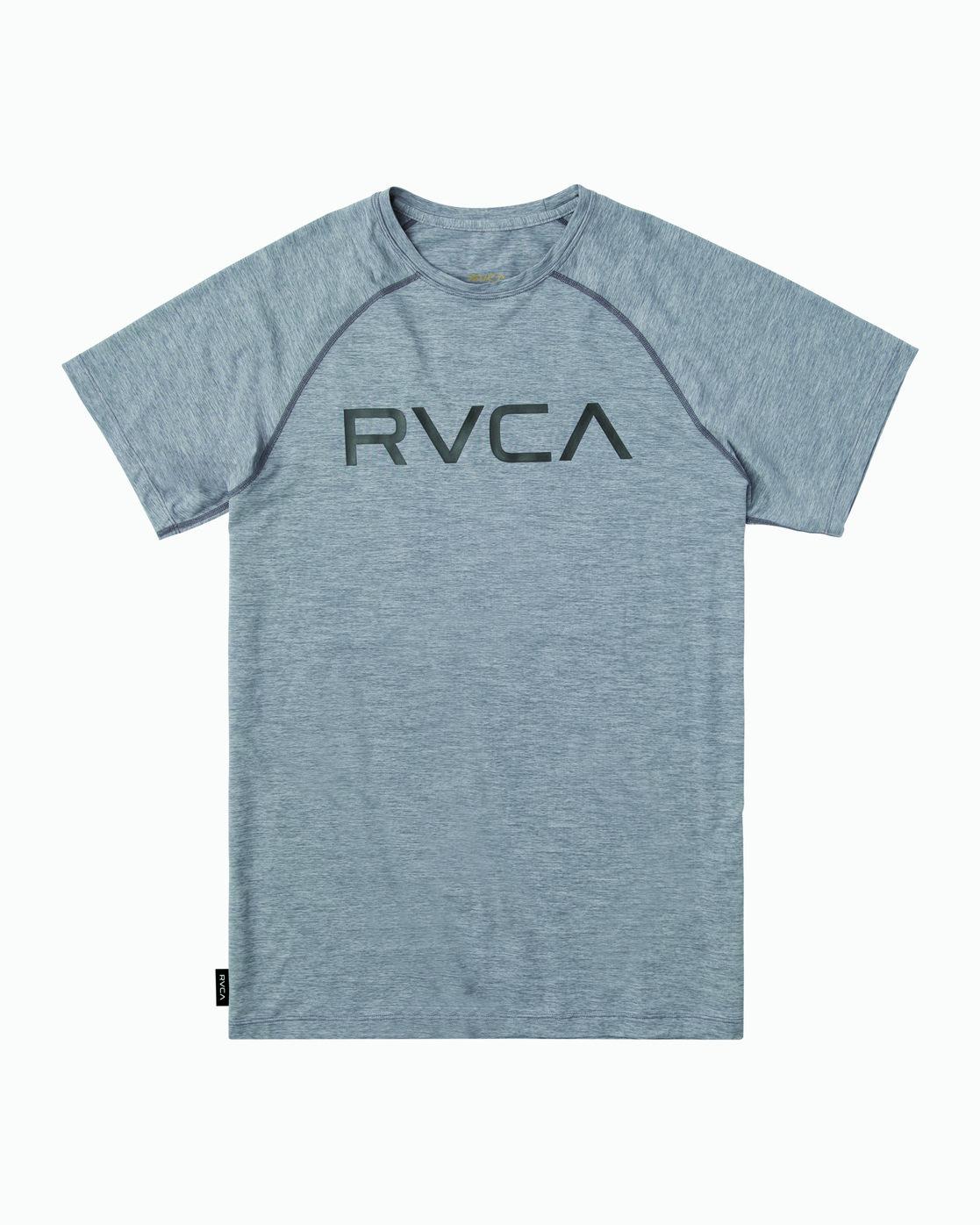 Gray Noise RVCA Mens VA Sport Micro Mesh SS Surf T-Shirt