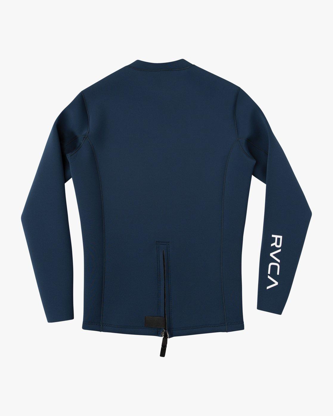 1 Back Zip Neoprene Wetsuit Jacket Blue MR03URBZ RVCA