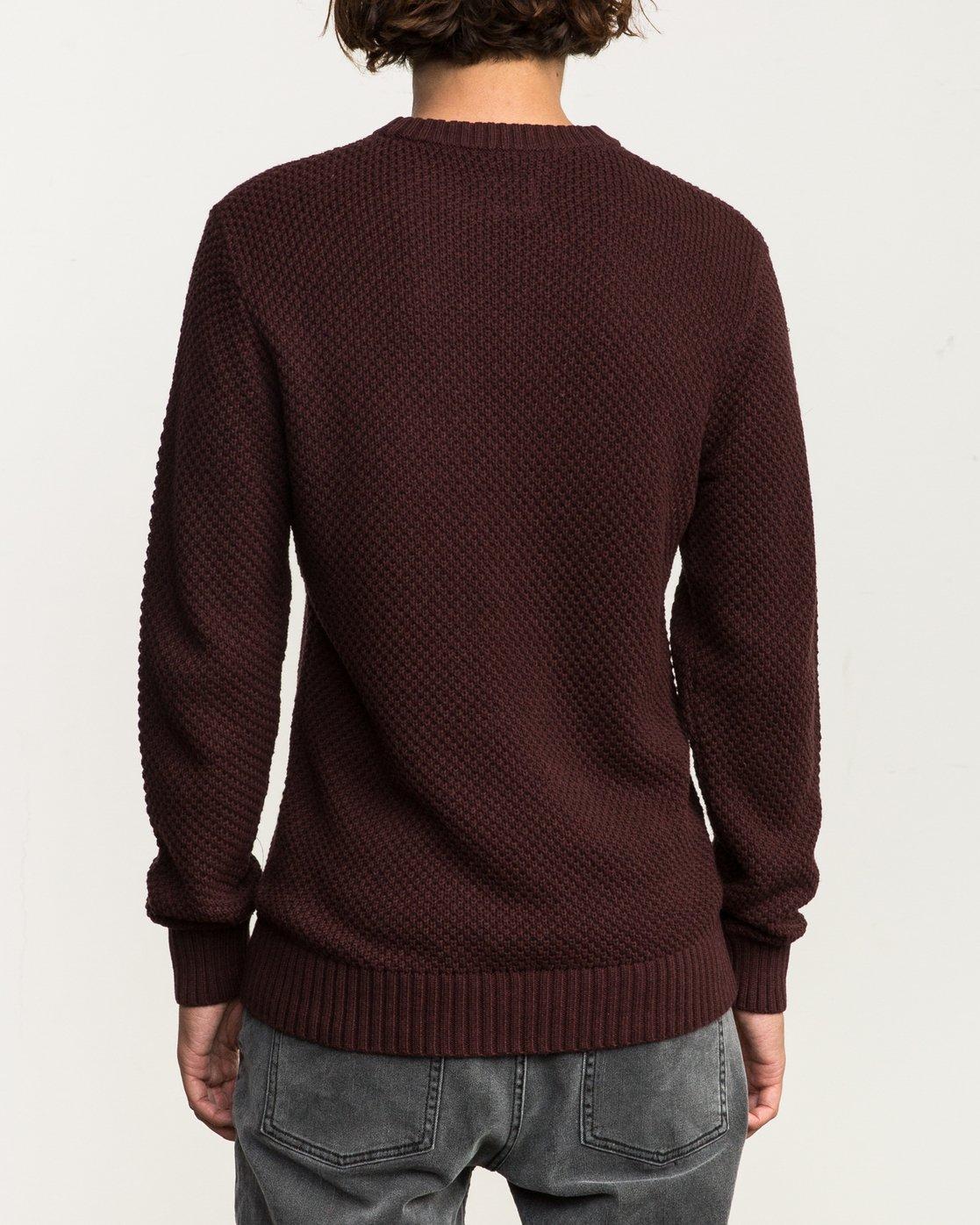 3 Dispatch Knit Sweater Red MV01QRDS RVCA