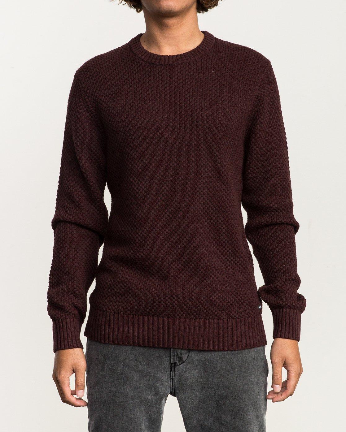 1 Dispatch Knit Sweater Red MV01QRDS RVCA