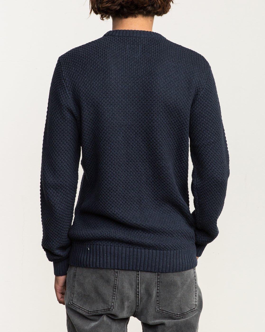 3 Dispatch Knit Sweater Blue MV01QRDS RVCA