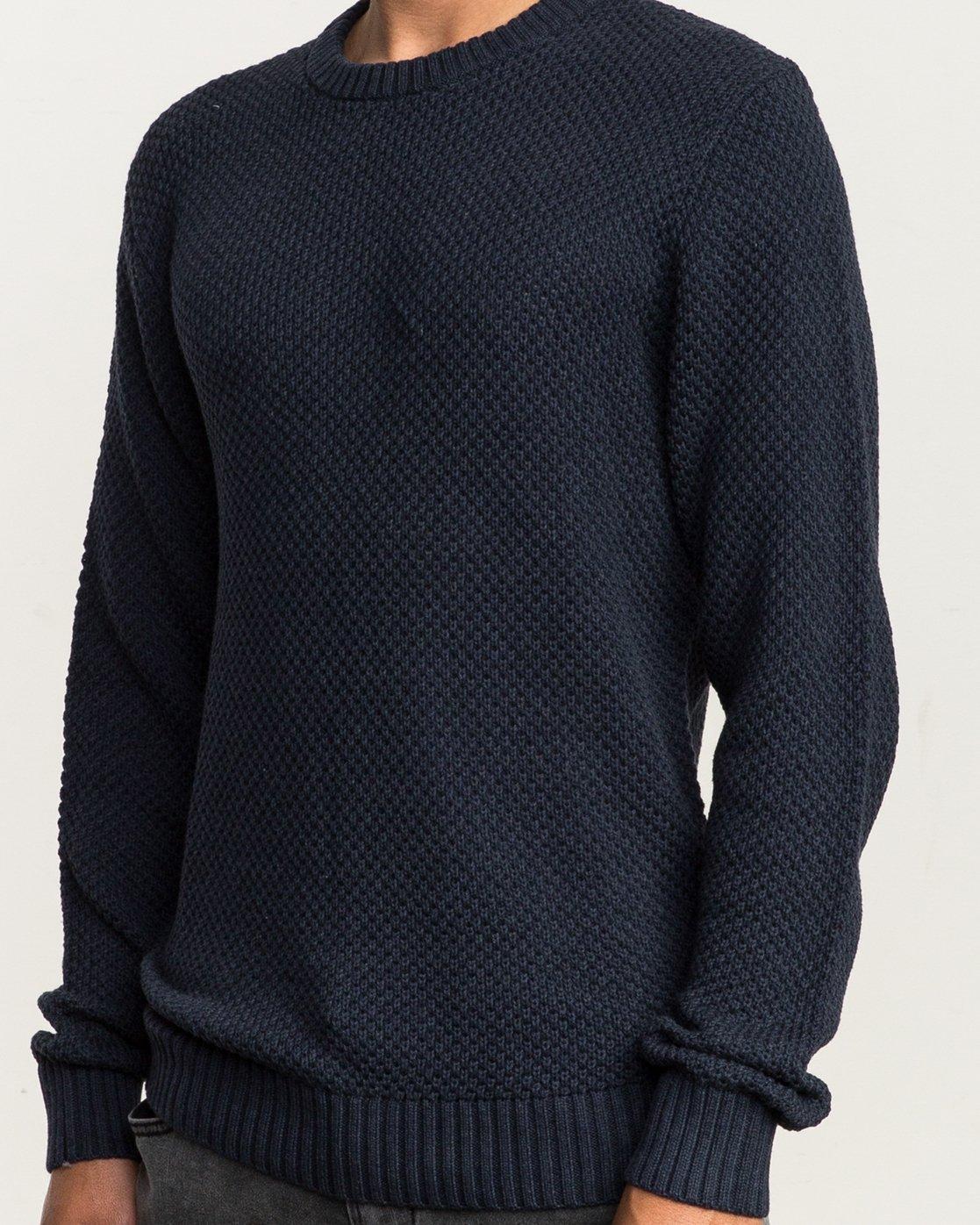 4 Dispatch Knit Sweater Blue MV01QRDS RVCA