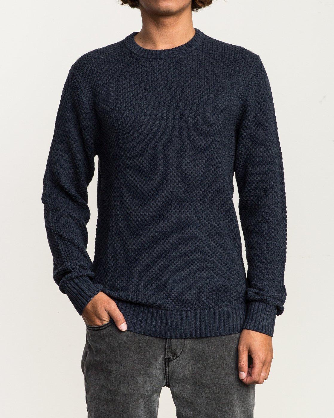 1 Dispatch Knit Sweater Blue MV01QRDS RVCA