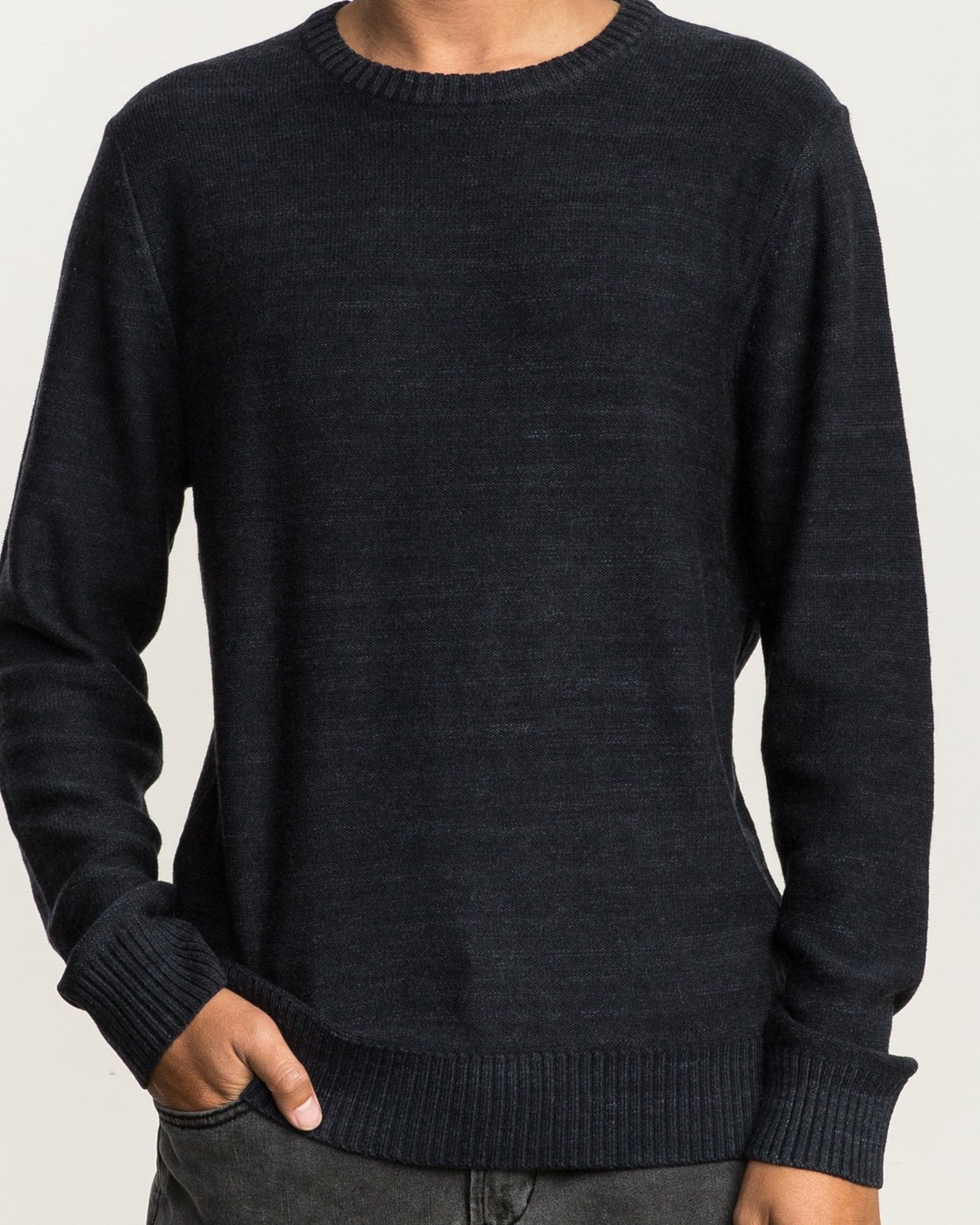 5 Man Up Sweater Black MV01QRMU RVCA