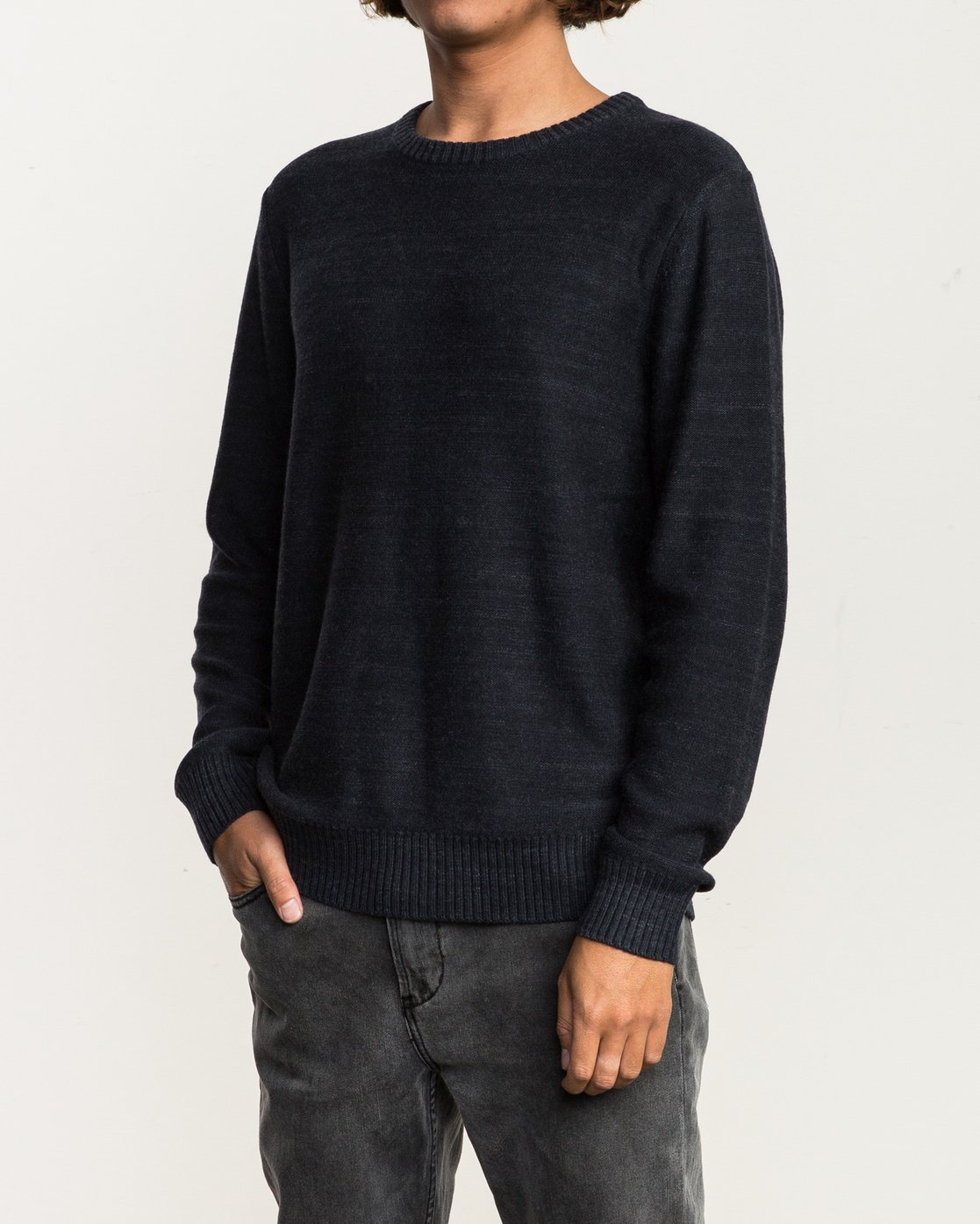 3 Man Up Sweater Black MV01QRMU RVCA