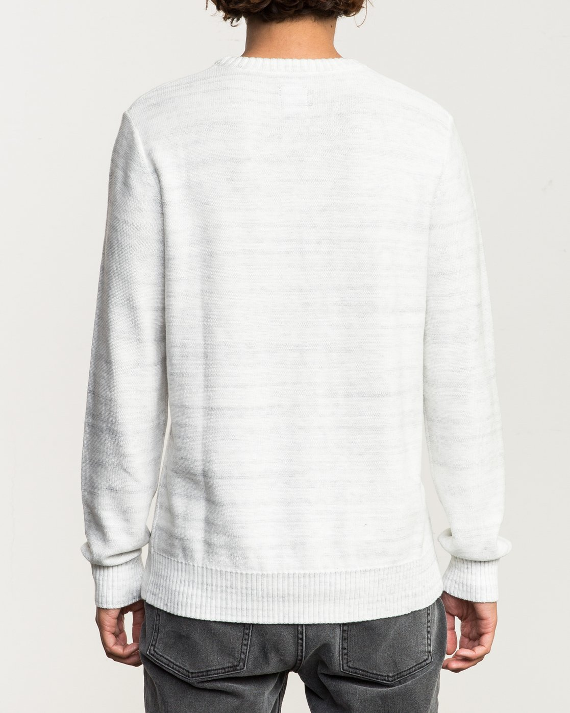 3 Man Up Sweater White MV01QRMU RVCA