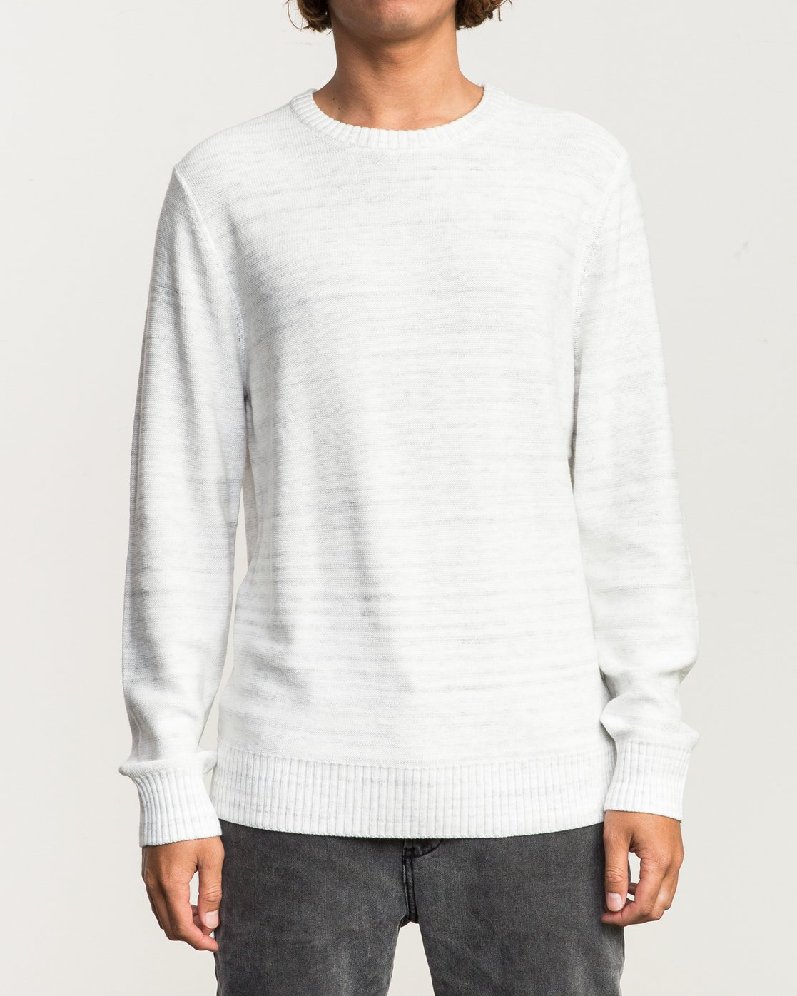 1 Man Up Sweater White MV01QRMU RVCA