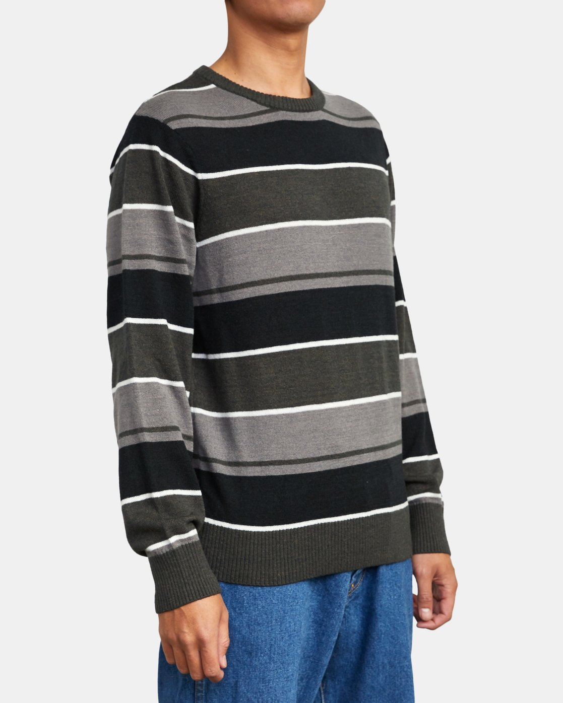 5 ALEX STRIPE CREW sweater Orange MV313RAL RVCA