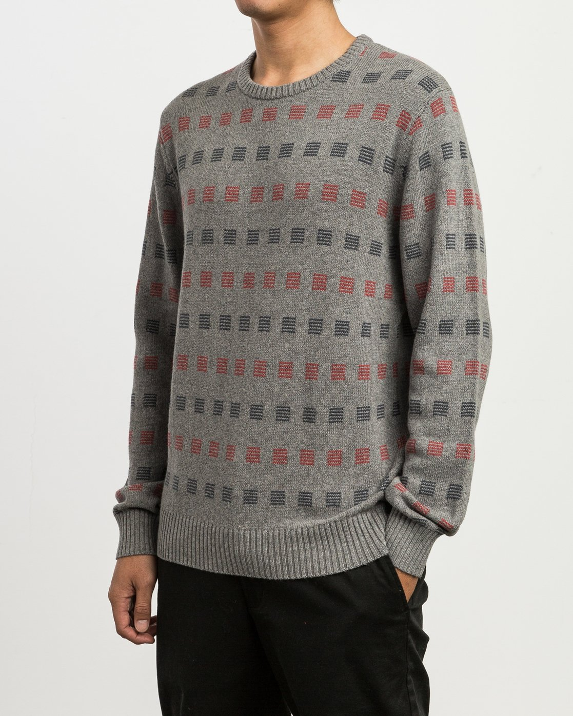 2 Mini Jacquard Sweater Grey MV41SRMJ RVCA