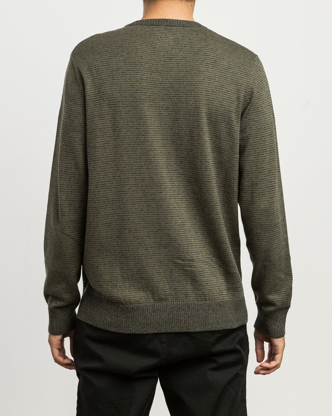 3 Layback Striped Sweater Grey MV42SRLB RVCA