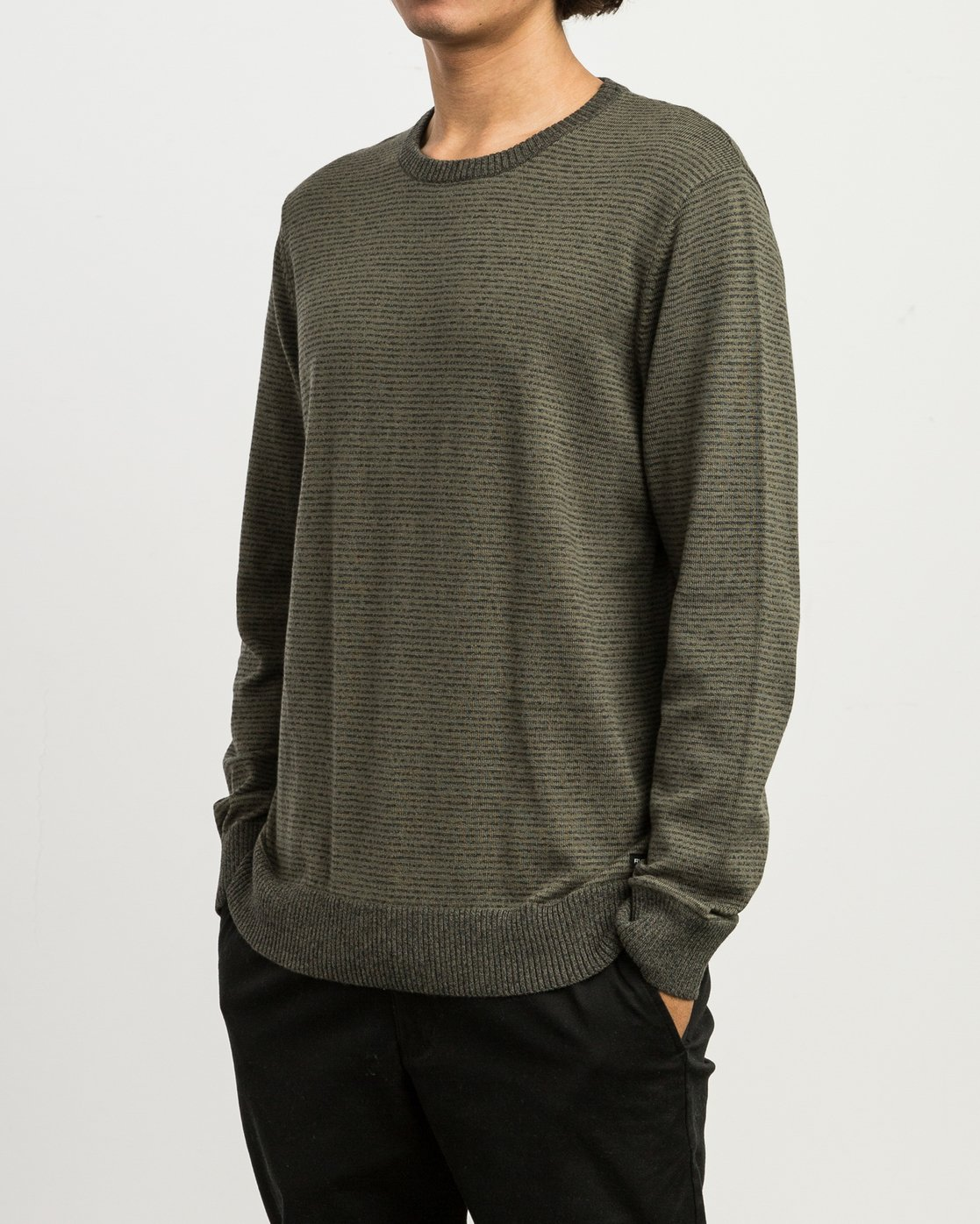 2 Layback Striped Sweater Grey MV42SRLB RVCA