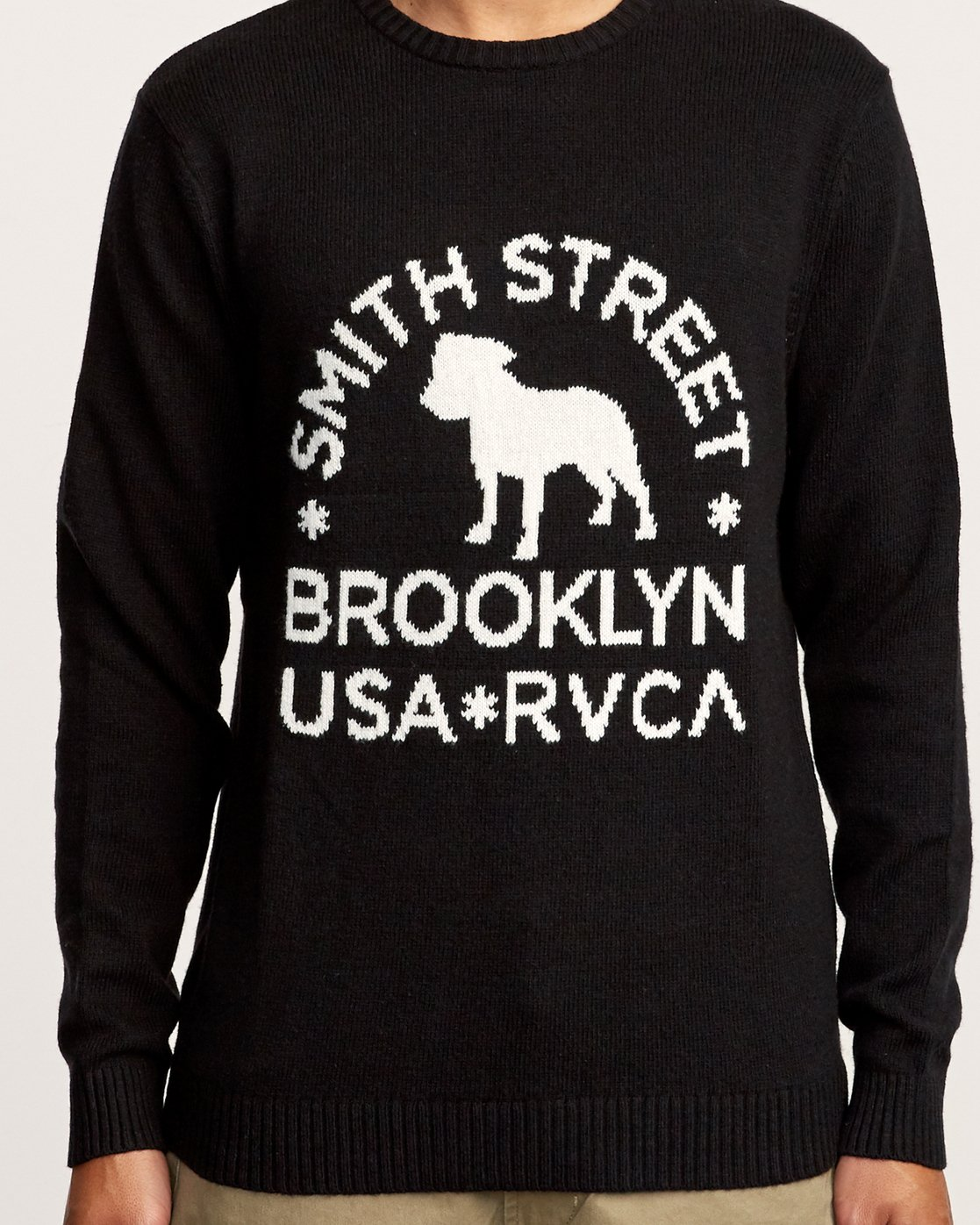 4 Smith Street Knit Sweater Black MV53VRSS RVCA