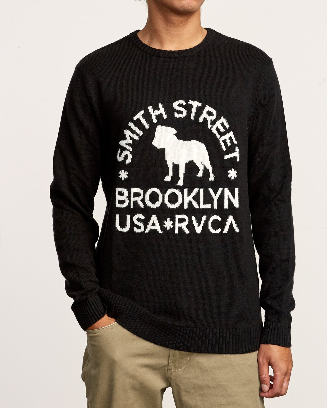 1 Smith Street Knit Sweater Black MV53VRSS RVCA