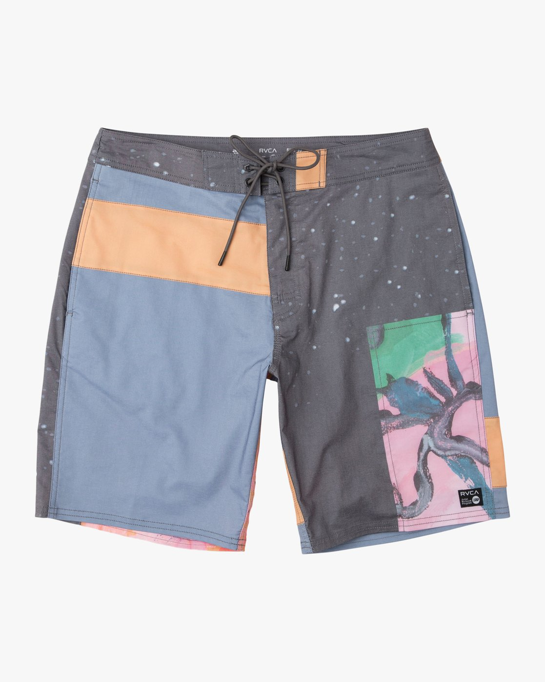 "0 Sage Vaughn Collage Trunk - 19"" Boardshorts for Men  N1BSRBRVP9 RVCA"