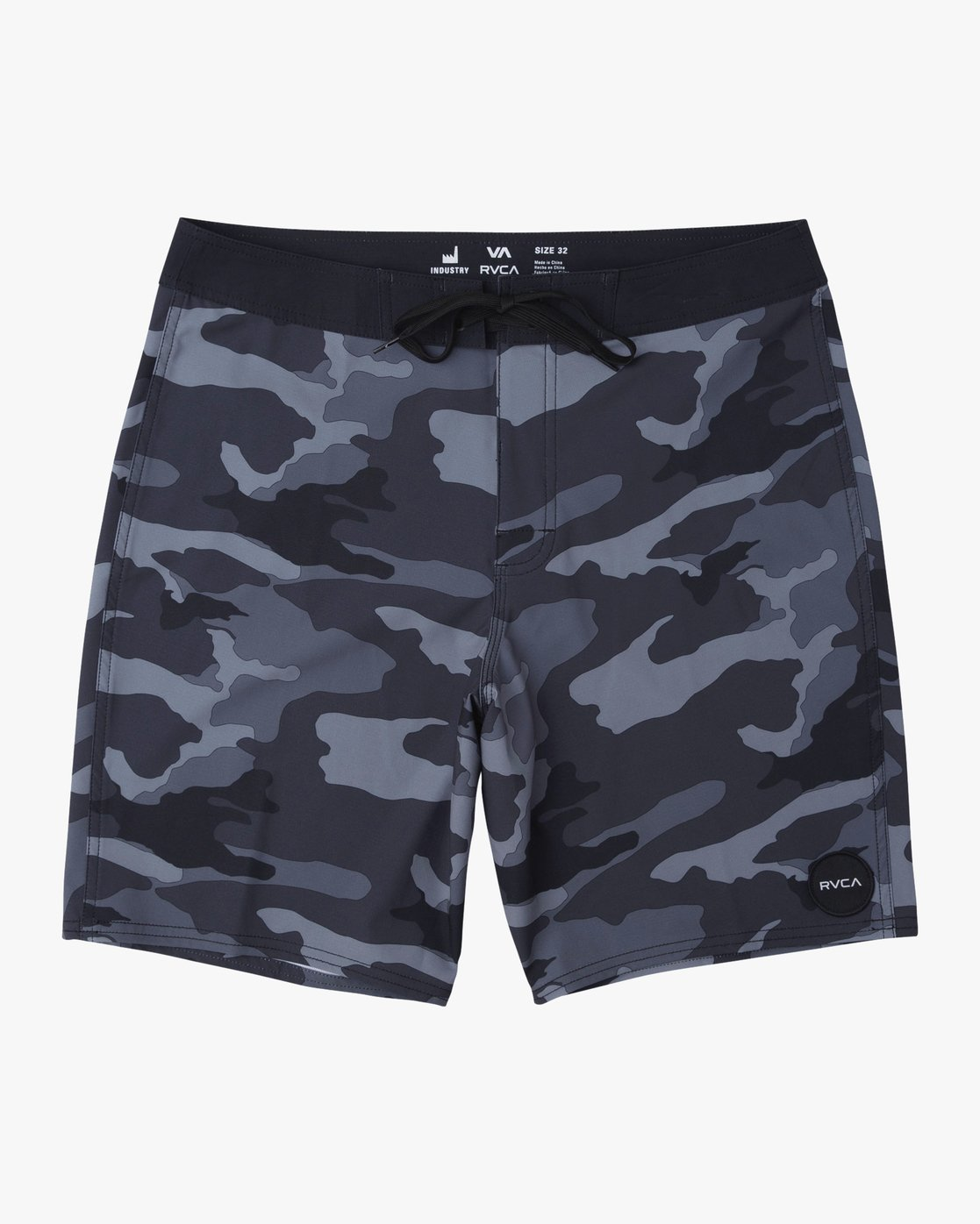 "0 VA Trunk Print - 19"" Boardshorts for Men Grey N1BSRJRVP9 RVCA"