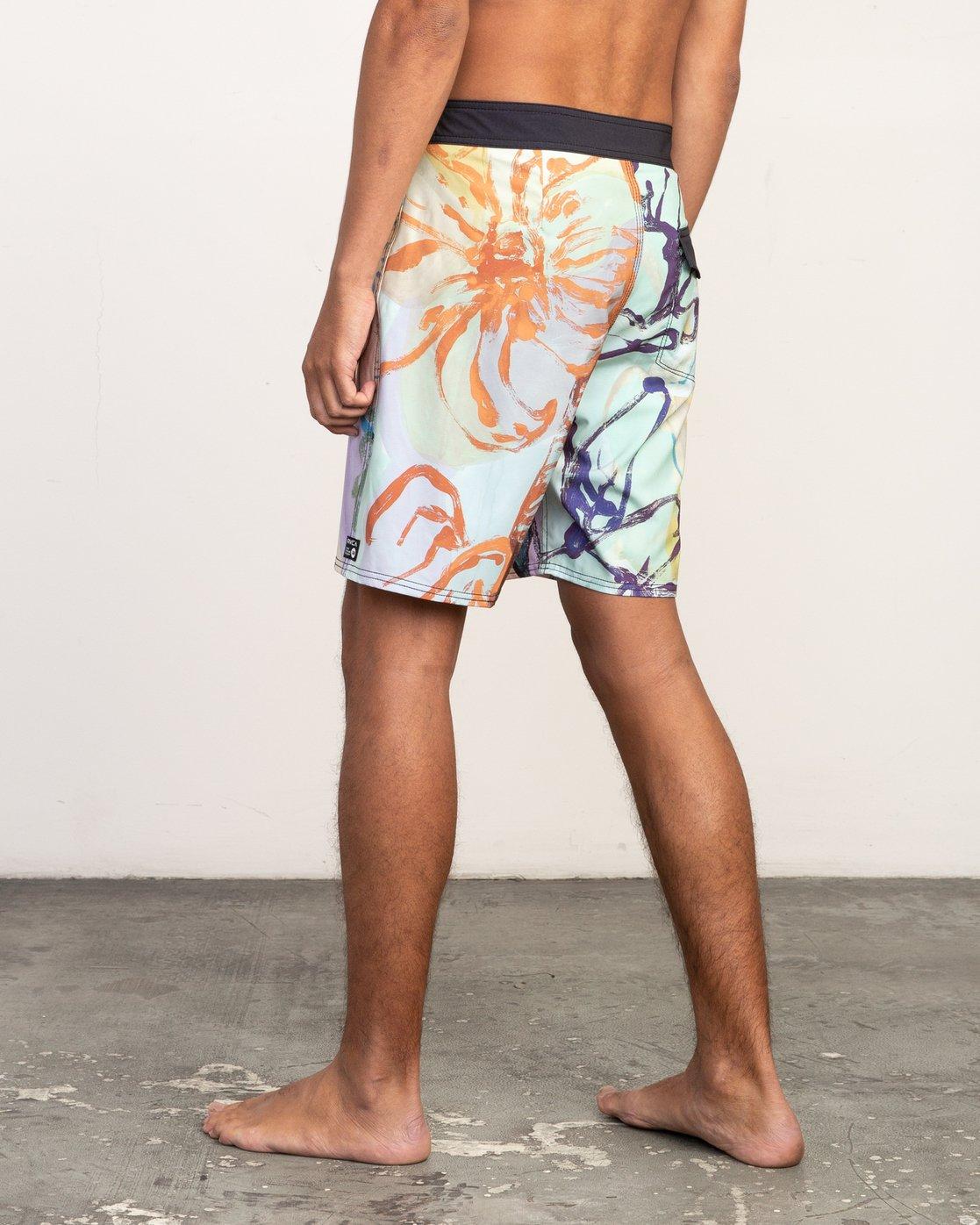 """4 Sage Vaughn Floral Trunk - 19"""" Boardshorts for Men  N1BSRKRVP9 RVCA"""