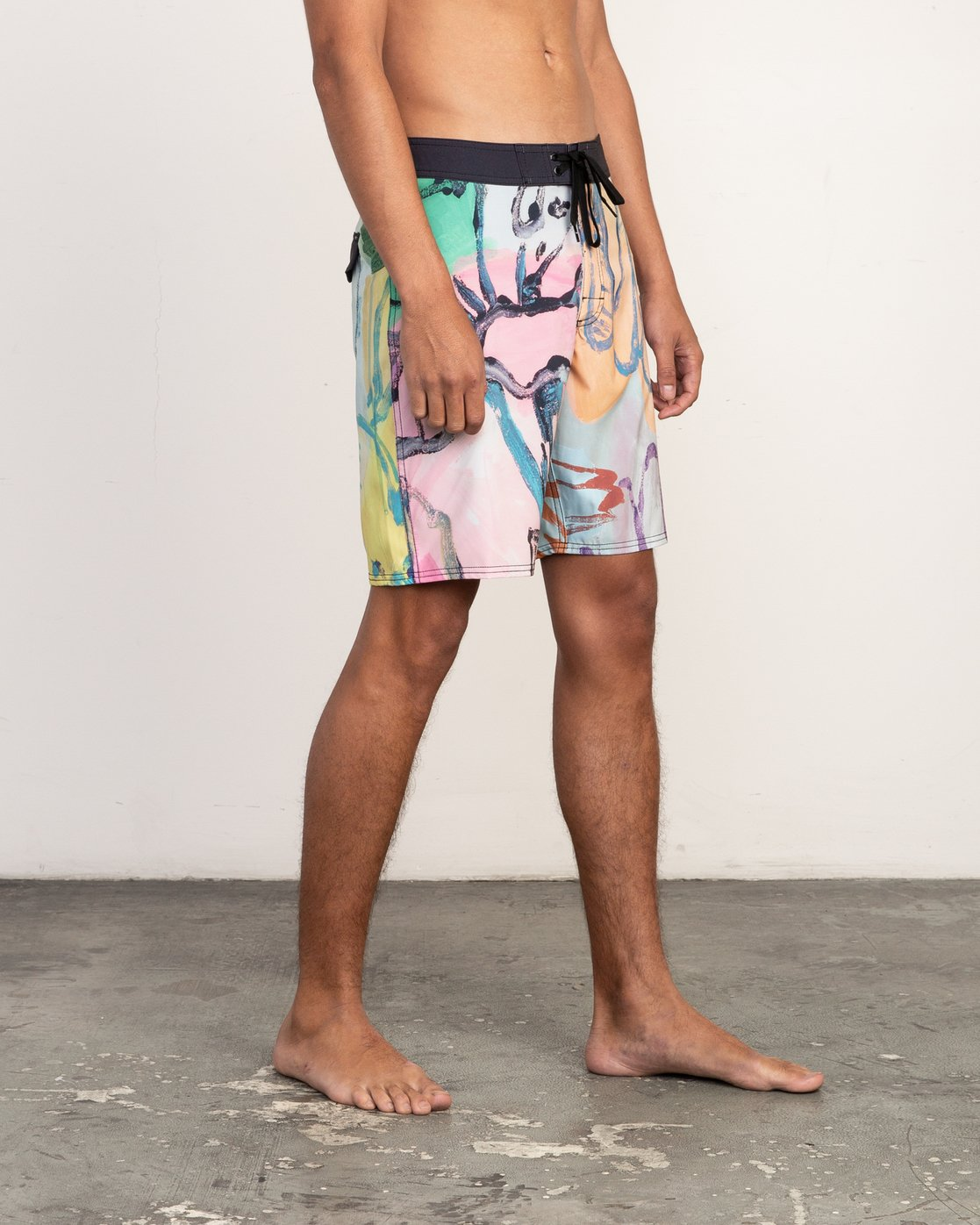 "7 Sage Vaughn Floral Trunk - 19"" Boardshorts for Men  N1BSRKRVP9 RVCA"