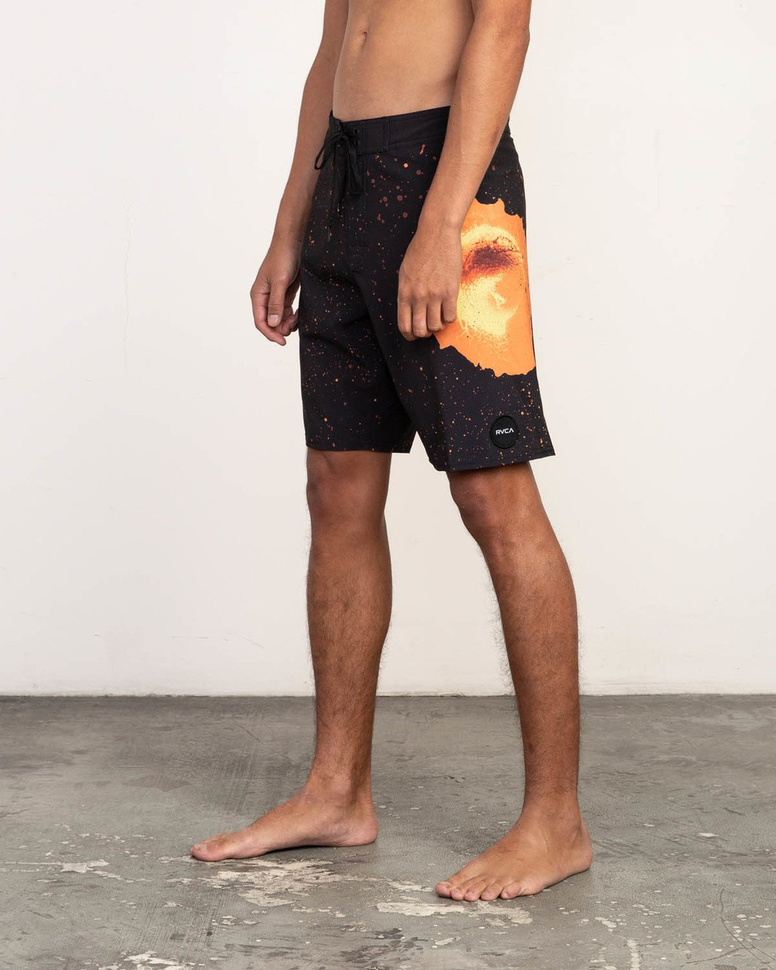 "2 Mark Oblow Davies Trunk - 19"" Boardshorts for Men Black N1BSRLRVP9 RVCA"