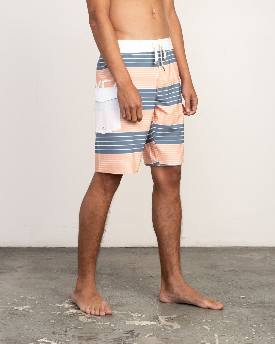 6 Uncivil Stripe Trunk Orange N1BSRQRVP9 RVCA