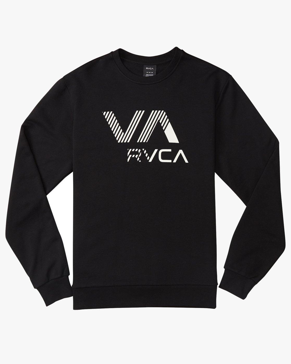 0 VA Rvca Crew Fleece Black N1CRRXRVP9 RVCA