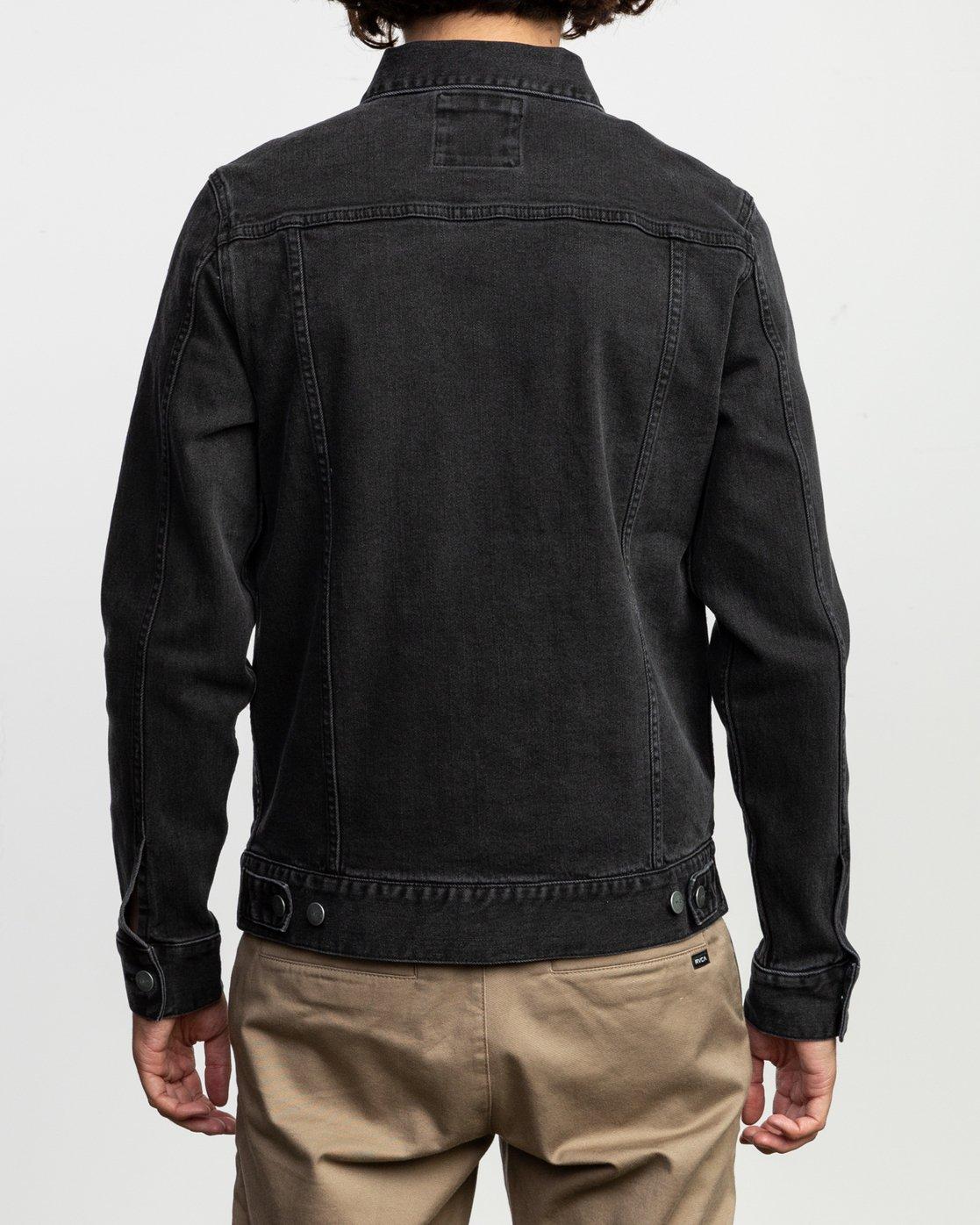 5 Daggers Denim Jacket Black N1JKRARVP9 RVCA