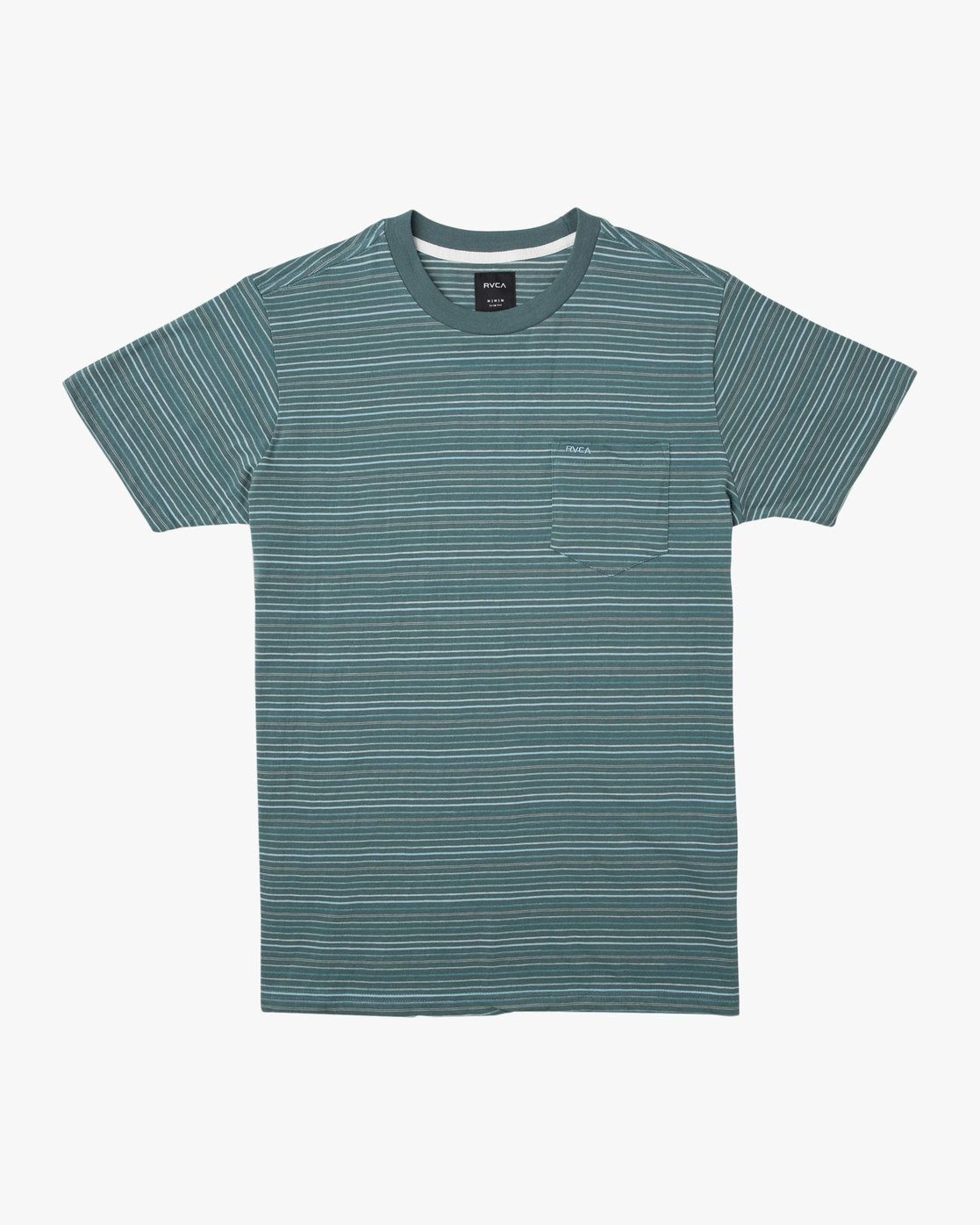 0 Warren Stripe T-Shirt Green N1KTRBRVP9 RVCA