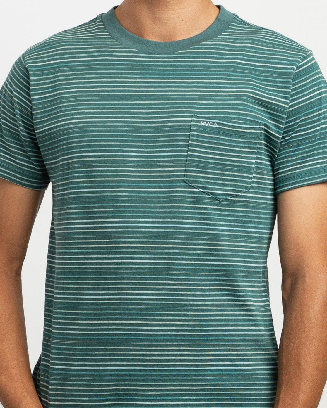 4 Warren Stripe T-Shirt Green N1KTRBRVP9 RVCA