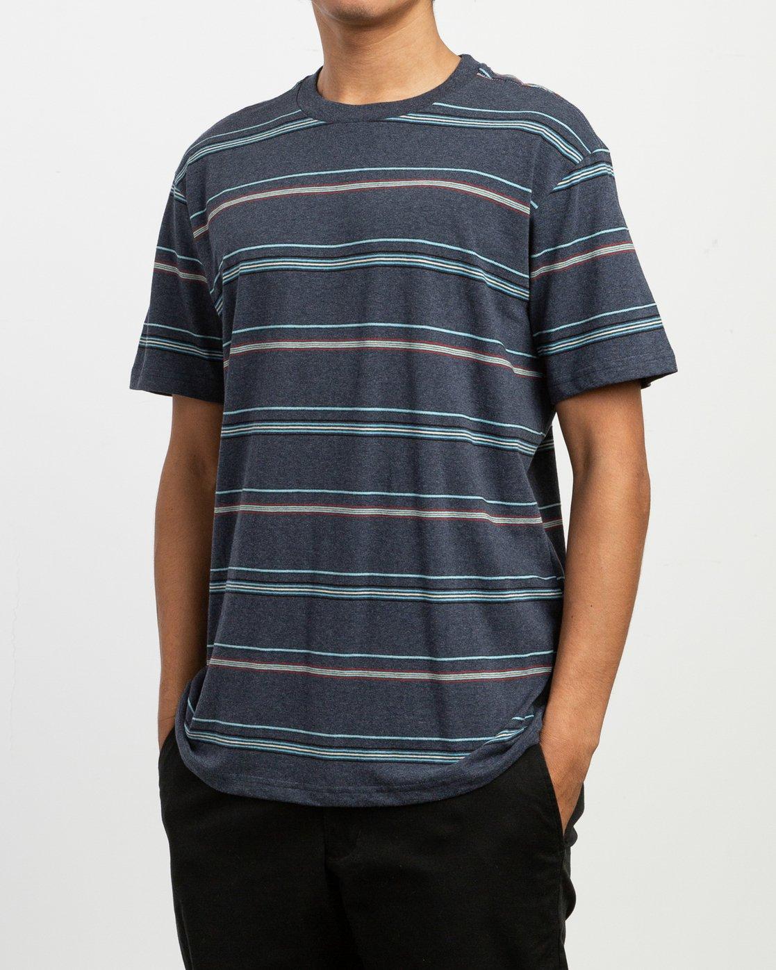 2 Avila Stripe T-Shirt Blue N1KTRCRVP9 RVCA