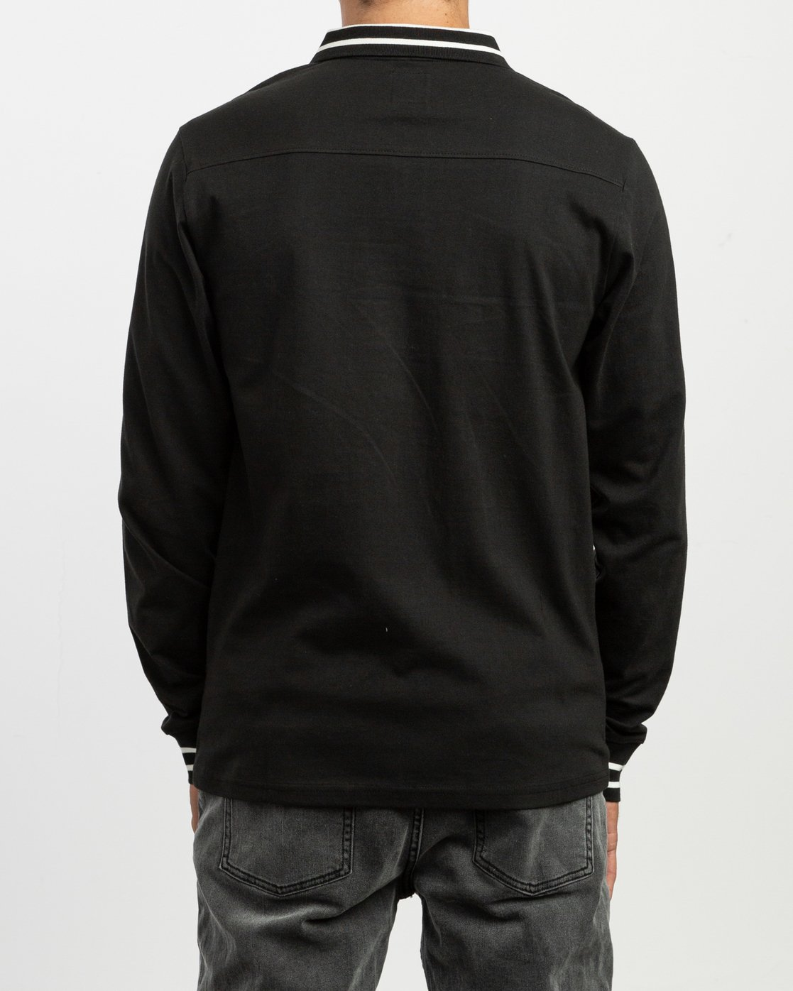 4 Hi Grade ANP - Long Sleeves Polo for Men Black N1KTRERVP9 RVCA