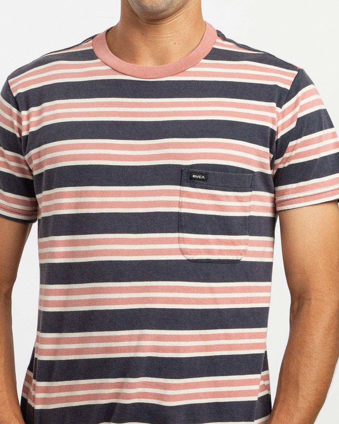 5 Lucas Stripe T-Shirt Blue N1KTRKRVP9 RVCA